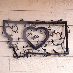 Heart In Montana Bronze Wall Decor