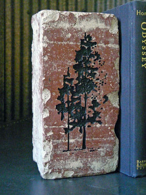 Hiking & Pine Tree Brick Book-Ends