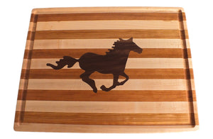 Horse Hardwood Cutting Board