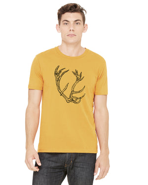 Antler Tee (Mustard Yellow) - Distinctly Montana