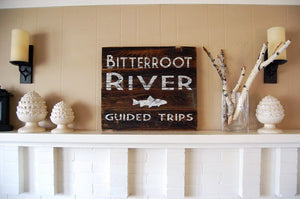 River Guide Reclaimed Wood Sign