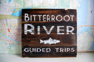 River Guide Rustic Montana Signs - Distinctly Montana - 9