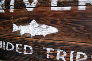 Flyfishing Reclaimed Wood Sign
