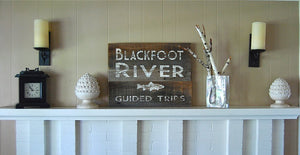 River Guide Rustic Montana Signs - Distinctly Montana - 11