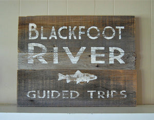River Guide Rustic Montana Signs - Distinctly Montana - 10
