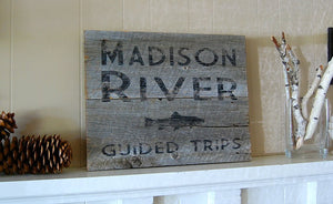 Rustic Fishing Reclaimed Wood Sign