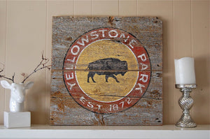 Vintage Yellowstone Sign