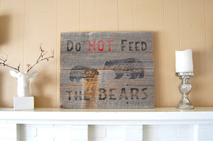 Grizzly Bears Rustic Barnwood Sign