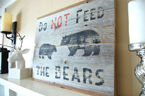 Grizzly Bear Reclaimed Wood Sign