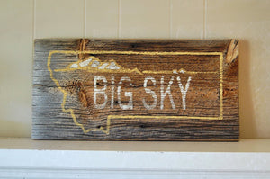 Big Sky Rustic Barnwood MontanaSign - Distinctly Montana - 5
