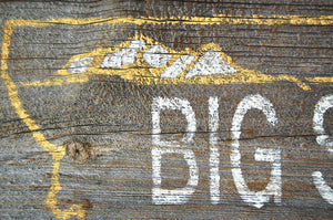 Big Sky Rustic Barnwood Montana Sign - Distinctly Montana - 6