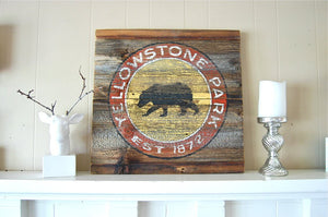 Yellowstone Salvage Sign
