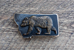 Grizzly Belt Buckle (color choices)
