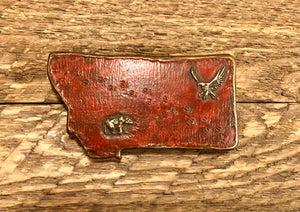 Montana Shaped Belt Buckle