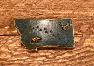 Large Montana Belt Buckle