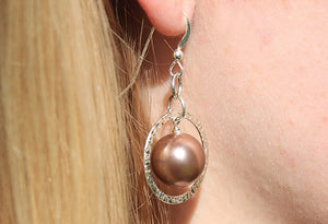 Pearl Hoop Earrings - Montana jewelry