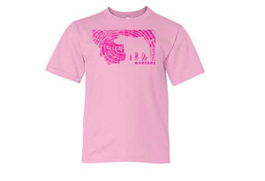 Pink Montana T Shirt, Youth Grizzly