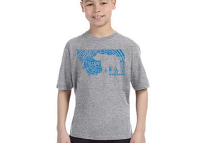 Montana T-Shirt, Youth Grizzly