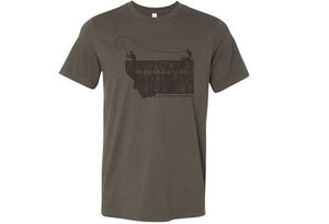 Men's MontanaTude Angler T-Shirt (Color Choices)