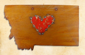 Montana Love Metal Art - Distinctly Montana - 1