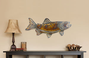 Metal Brown Trout Wall Decor