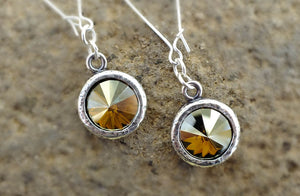 Montana Millworks Rivoli Crystal Earrings - Distinctly Montana - 1