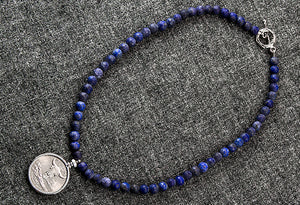 True Blue Lapis Quarter Necklace (Choose length)
