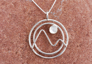 Moonstone Mountain Sterling Silver Necklace