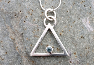 Tipi Sterling Necklace, Montana Sapphire
