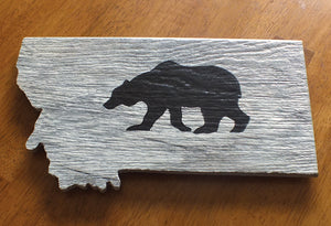 Montana Grizzly Wall Art, Ceramic