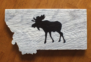 Montana Moose Wall Art, Ceramic