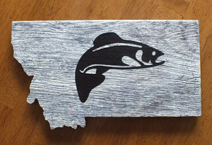 Montana Trout Wall Art, Ceramic