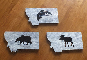 Montana Wildlife Ceramic Trivet