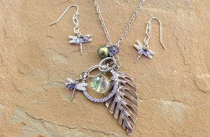 Springtime in the Rockies Earrings & Necklace Duo - Distinctly Montana - 1