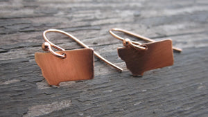 Montana Earrings, Sterling or Copper Charm