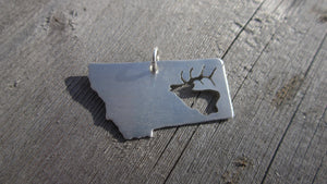 Montana Necklace, Sterling Elk Silhouette