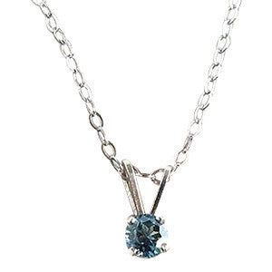 Yogo Sapphire Necklace, Tiffany Sterling Pendant