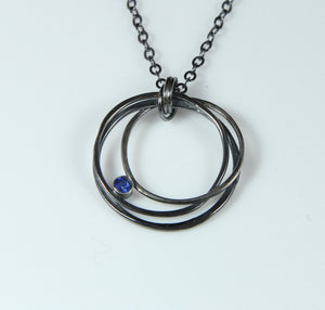 "Sapphire ""Happy Karma"" Necklace - Distinctly Montana - 3"