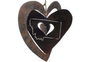 Large Rustic Heart Ornament