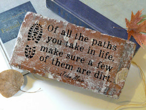 Paths Brick Book-ends