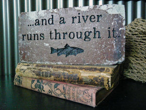 River Runs Through It Accent Brick
