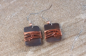 Flathead Copper Earrings