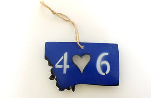 406 Heart Montana Ornament - Blue