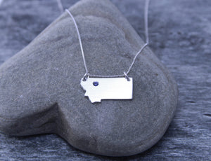 Montana State Sapphire Necklace