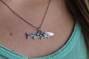 Sterling Spotted Trout Necklace