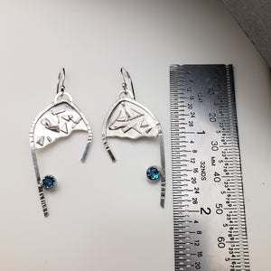 Denmark Sterling & Topaz Earrings