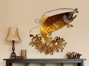 Wild Trout Metal Wall Decor