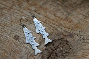 Silver Trout Earrings