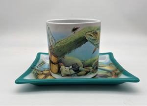 Montana Trout Tray & Cup Set