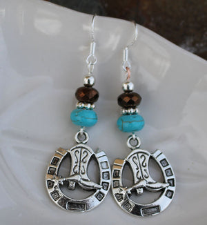 round up  western  earrings